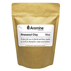 Rhassoul Clay (Ghassoul) Powder - 16oz (1 lb) - Natural Face Mask and Skin Care, Detoxifying and Rejuvenating Moroccan Clay 139