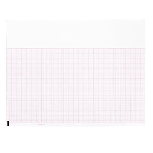 Burdick Compatible 007983 Medical Cardiology Recording Chart Paper Z-Fold, Size 8.5