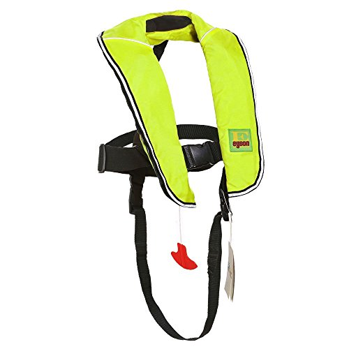Premium Quality Automatic/Manual Inflatable Life Jacket Lifejacket PFD Life Vest Inflate Survival Aid Lifesaving PFD for Children Youth Kids ()