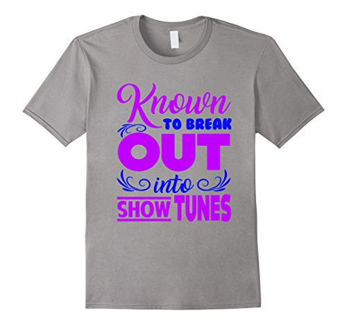 Men's FUNNY BREAKOUT SHOW TUNES T-SHIRT Theater Lovers Broadway 3XL Slate (The Today Show Halloween Costumes)