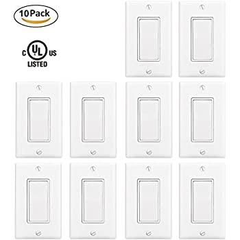 maxxima 3 way decorative wall switch on  off white 15a