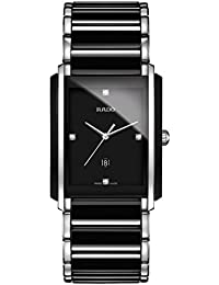 Integral Jubile Two-tone Black Ceramic and Stainless Steel Mens Watch - R20206712. Rado