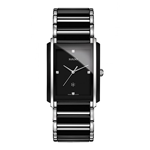 (Rado Integral Jubile Two-tone Black Ceramic and Stainless Steel Mens Watch - R20206712)