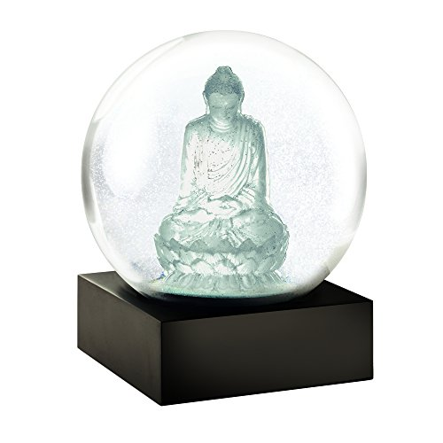CoolSnowGlobes Crystal Buddha Cool Snow Globe