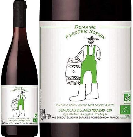 新酒/[Frederic Sornin]フレデリック・ソルナン、ボジョレー・ヴィラージュ・ヌーボー 2019 (赤) 750ml /酸化防止剤無添加