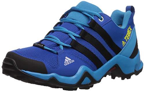 adidas outdoor Terrex AX2R CP Kids Hiking Shoe Boot, Blue Beauty/Black/Shock Yellow, 4.5 Child US Big