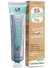 Dr. Gingers - Fluoride-Free Coconut Oil Toothpaste Coconut Mint - 4 oz.
