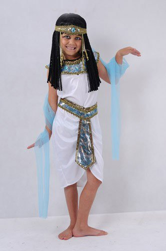DeemoShop Halloween Costumes Boy Girl Ancient Egypt Egyptian Pharaoh Cleopatra Prince Princess Costume for Children Kids Cosplay Clothing