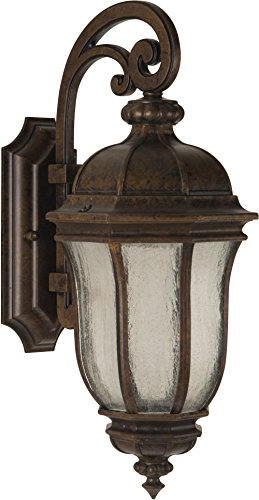Craftmade Z3324-112 Wall Lantern with Seeded Glass Shades, Bronze Finish