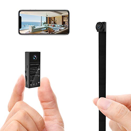 WiFi Spy Hidden Camera 2 Lens HD 1080P Nanny Body Cam for Mobile APP with Night Vision Motion/Detection/Built-in Battery
