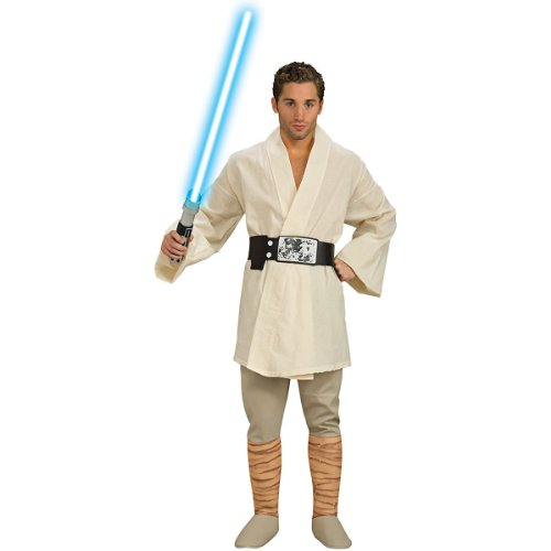 Luke Skywalker Halloween Costumes (Rubie's Men's Star Wars A New Hope Deluxe Luke Skywalker Costume, As Shown,)