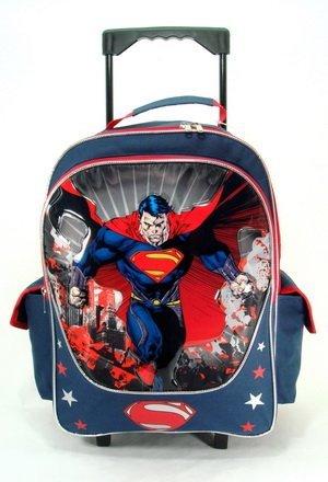 16 Large Dc Comics Superman Man of Steel Roller Backpack