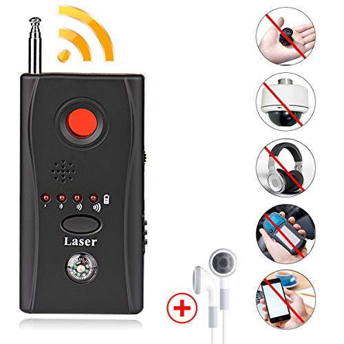 Bug Detector, RF Anti-Spy Wireless Detector,Hidden Camera Pinhole Laser Lens GSM Device Finder,Full-Range All-Round Portable Detector for Eavesdropping, Candid Video, GPS Tracker Laser by GEJRIO ()