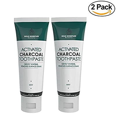 Activated Charcoal Teeth Whitening Toothpaste with Coconut. All Natural Herbal Toothpaste Eliminates Bad Breath and Gently Whitens Teeth.