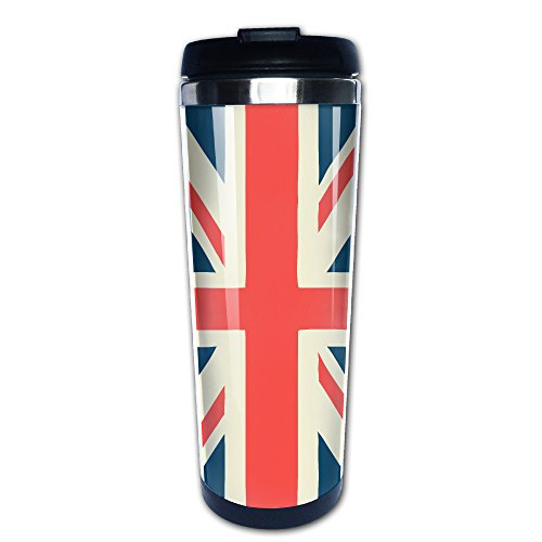 British Flag Personalized 400ml Stainless Steel Coffee Cup T