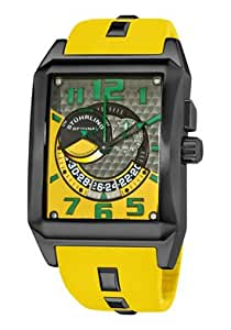 Stuhrling Original Men's 255D.3356G86 Madman Complex Swiss Quartz Yellow Watch