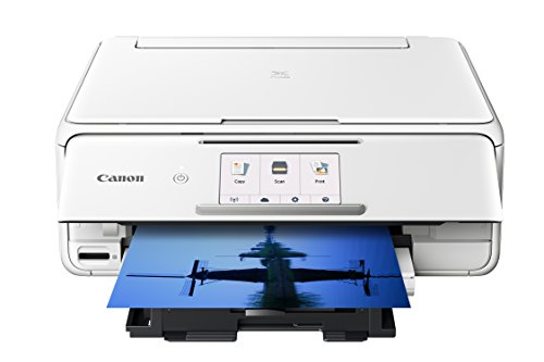 Canon TS8120 Wireless All-In-One Printer with Scanner and Copier: Mobile and Tablet Printing, with Airprint(TM) and Google Cloud Print compatible, White