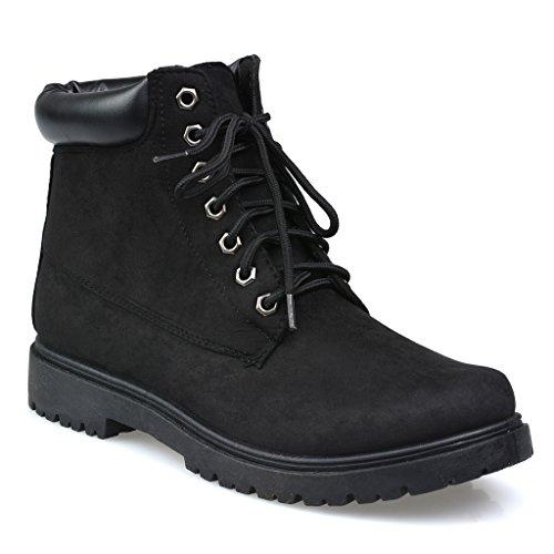 Influence Men's Brad Faux Suede 6-Inch Soft Toe Work Boot, Black, Size 10 (Men Black Boots)