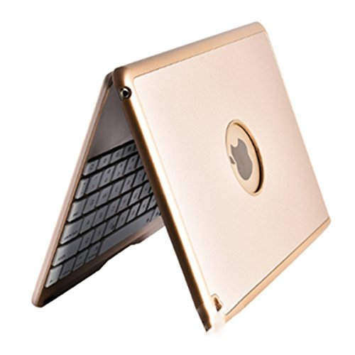 SODIAL Golden Flip For iPad 9.7 inch backlit aluminum alloy Bluetooth keyboard by SODIAL (Image #3)