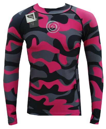 Peau de neige maillot de compression rose (Moyen)