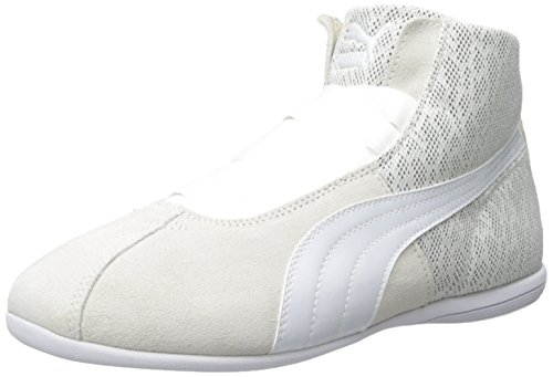 PUMA Women's Eskiva Mid Textured Cross-Trainer Shoe, Whisper White, 9.5 M US