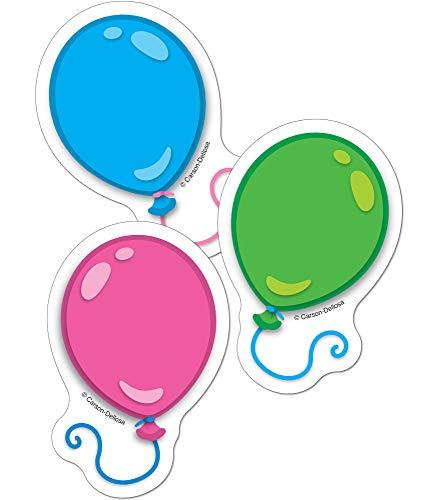 Carson Dellosa - Balloons Mini Colorful Cut-Outs, Classroom Décor, 36 Pieces