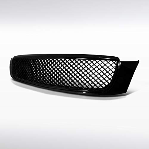 Autozensation For Cadillac DeVille Front Bumper Glossy Black Hood Mesh Honeycomb Grille