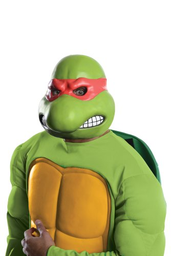 Nickelodeon Teenage Mutant Ninja Turtles Adult Raphael 3/4 Mask, Green, One Size (Teenage Mutant Ninja Turtle Raphael Adult Mask)