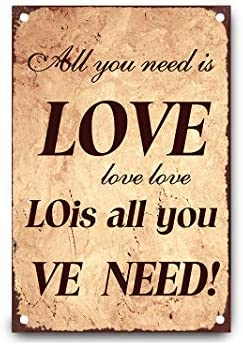 happygoluck1y All You Need is Love - Cartel de Metal para ...