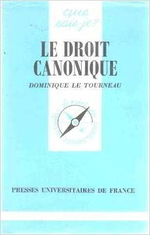 Téléchargement Le Droit canonique pdf epub