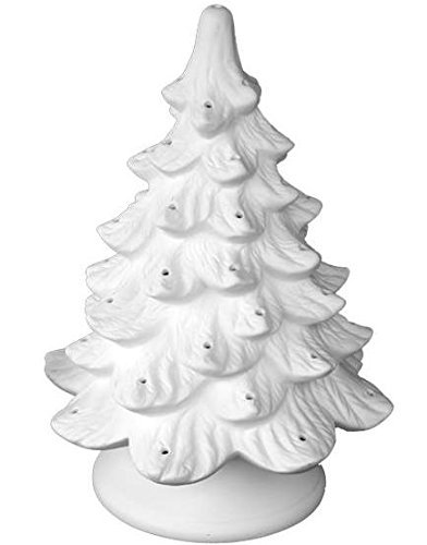 Lighted Christmas Tree Paint Your Own Ceramic Unfinished Low Fire Ceramic Bisque Paint A Potamus