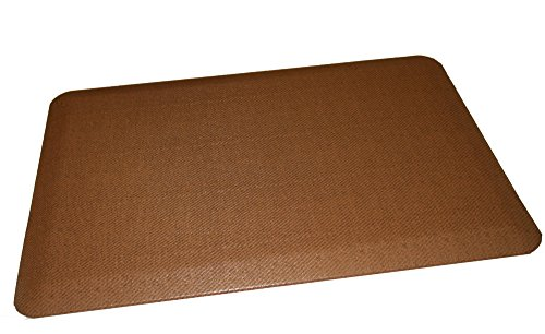 Rhino Mats CCP-2436-REED-Beech Comfort Craft Premium Reed Houseware Anti-Fatigue Mat, 2' Width x 3' Length x 3/4