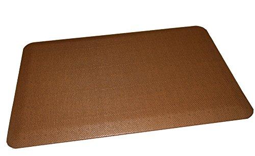Rhino Mats CCP-2436-REED-Beech Comfort Craft Premium Reed Houseware Anti-Fatigue Mat, 2' Width x 3' Length x 3/4'' Thickness, Polyurethane, Beech wood by Rhino Mats