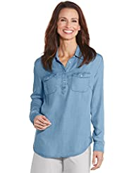 Coolibar UPF 50+ Womens Chambray Tunic Top - Sun Protective