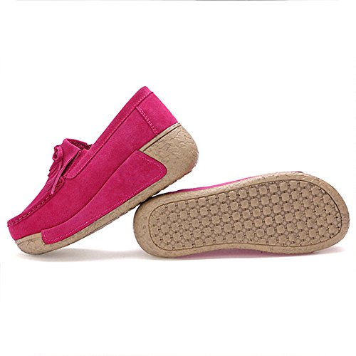 Cuir Mocassins Marche Plateforme Chaussures Tennis Sneakers Bateau Loafers Sport Femmes Chaussons Compensé Baskets Fitness Eagsouni xIwznAqRI
