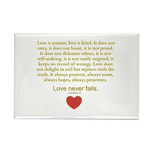 CafePress – 1 Corinthians 13 Magnets – Rectangle Magnet