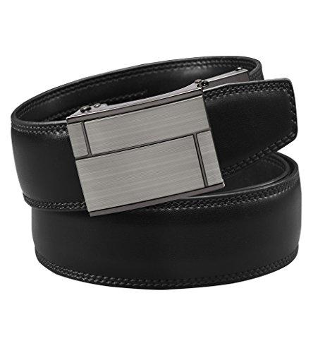 VinicioBelt Astoria Argentum Leather Belt - Black/Small