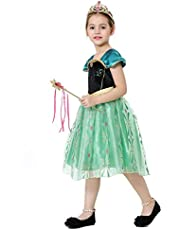 885d77a5986e5 Girls Fancy Dress Princess Dressing up Costumes Snow Queen Party Outfit  TS104