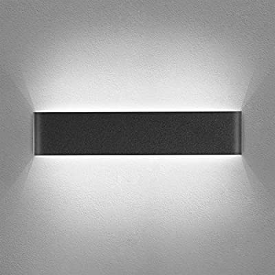 Yafido Aplique Pared Interior LED 40CM Lámpara de pared Moderna Negro Blanco Frío perfecto para Salon Dormitorio Sala Pasillo Escalera 220V: Amazon.es: Iluminación