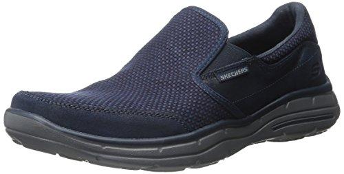 Skechers Usa Heren Glijdt Movito Instappers Loafer Marine Grijs
