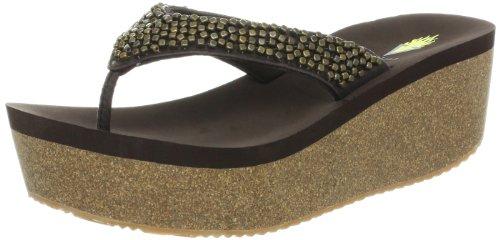 Volatile Women's Hardware Wedge Sandal,Brown,6 B US