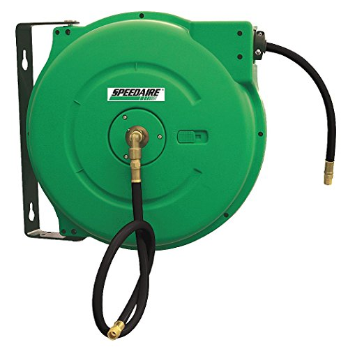 Speedaire 2CUC7 Hose Reel, Spring, 50 Ft, 3/8 ID, 3/8 Inlet by Speedaire