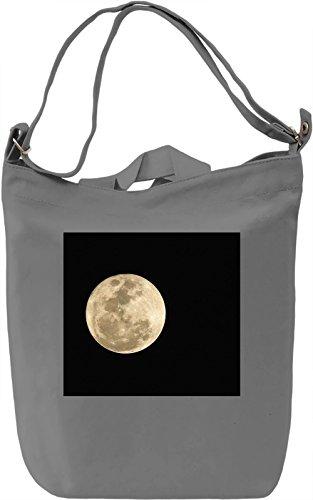 Moon Print Borsa Giornaliera Canvas Canvas Day Bag| 100% Premium Cotton Canvas| DTG Printing|