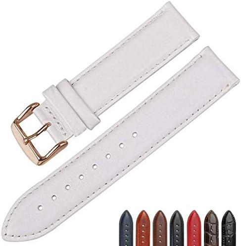 Bracelet de Montre en Cuir Blanc avec Fermoir en Or Rose Bracelet de Montre 16 mm 17 mm 18 mm 20 mm Bracelet de Montre Bracelet de Montre