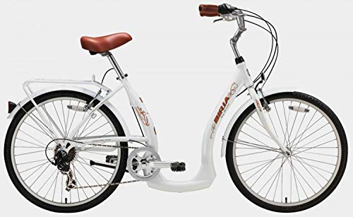 Biria Easy Boarding 7 Speed Step Through Cruiser Bicycle 15.5'' Pearl White