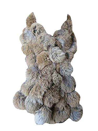 Real Rabbit Fur Scarf Warm Protect the Cervical Spine (natural brown)