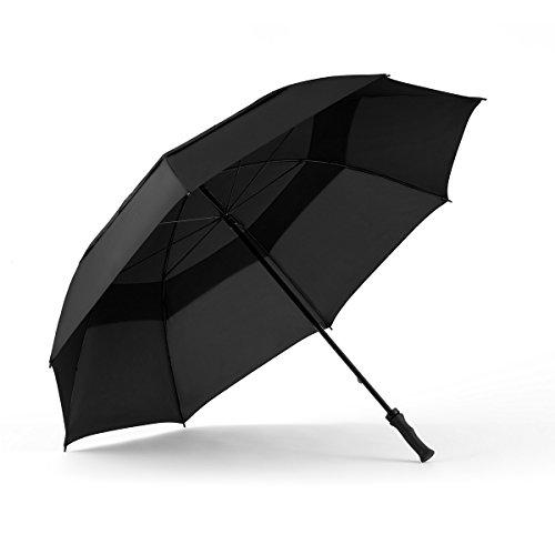 Windjammer por ShedRain 3620 62-Inch Manual abierto paraguas de Golf con ventilación, Unisex, 3620, negro: Amazon.es: Deportes y aire libre