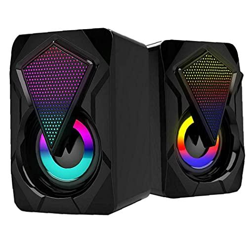ODOUKEY -J2 Computer Speakers met USB-kabel Home Gaming Audio Draagbare Audio voor Desktop Tablet Zwart