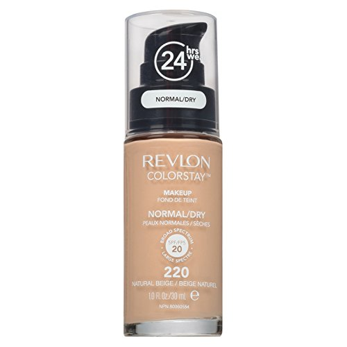 Revlon ColorStay for Normal/Dry Skin Makeup, Natural Beige [220] 1 oz (Pack of 2)
