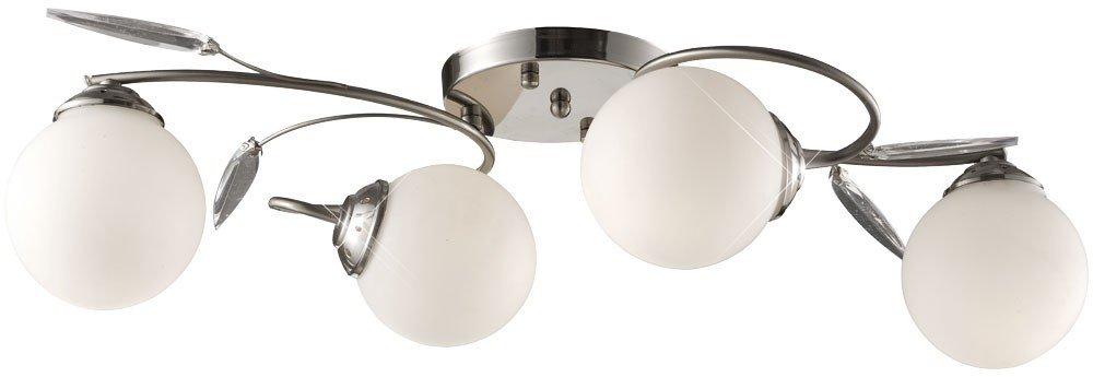 LED Deckenleuchte Deckenlampe Chrom Glas Deckenbeleuchtung Wohnzimmer
